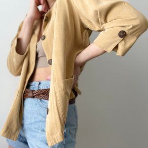 Vintage Tops - Vintage Buttery Boxy Button Up